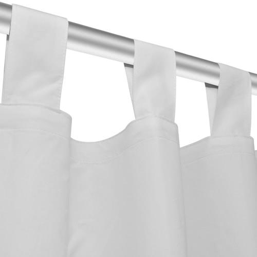 Image of Vorhänge Gardienen aus Satin 2-teilig 140 x 245 cm Weiß