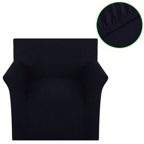 jersey di cotone nero Sofahusse divano copertura copertura tratto