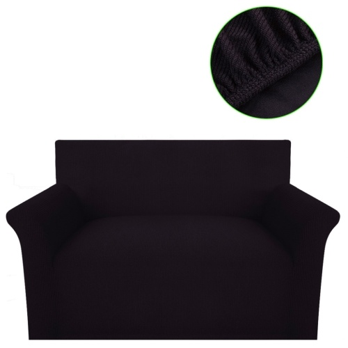 Sofahusse Sofabezug Stretchhusse Braun Polyester Rippstrick