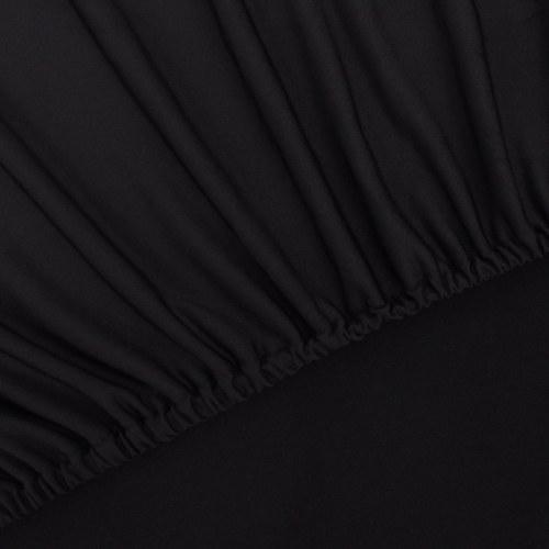 copertura tratto divano copertura  Sofahusse maglia nera in poliestere
