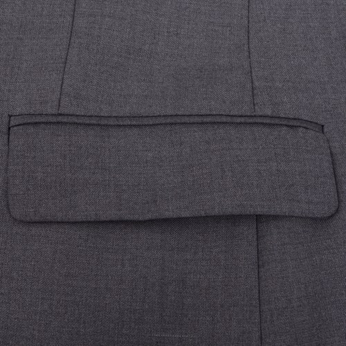 2 pcs. business suit for men grey gr. 46