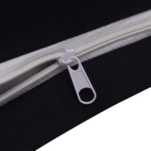3 pz. Bedding Set Cotone 200x200 nero / 80x80 cm