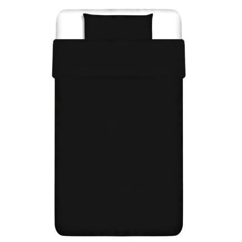 2 pz. Bedding Set Cotone 135x200 nero / 60x70 cm