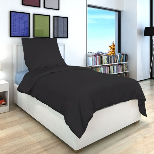 2 pz. Bedding Set Cotone antracite 135x200 / 80x80 cm