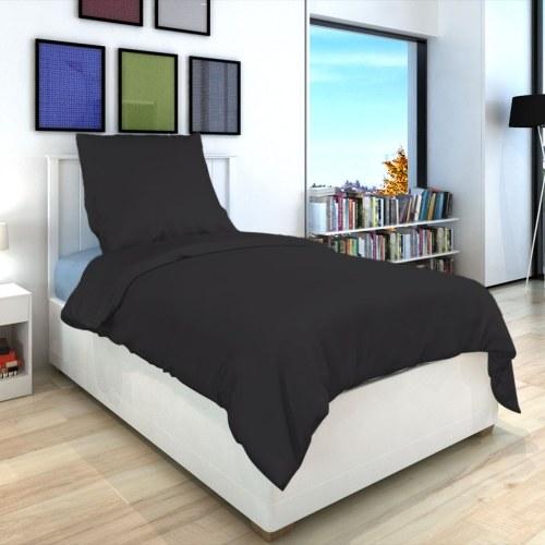 2 pz. Bedding Set Cotone antracite 155x220 / 80x80 cm