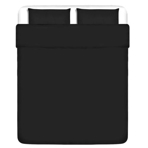 3 pz. Bedding Set Cotone antracite 240x220 / 60x70 cm