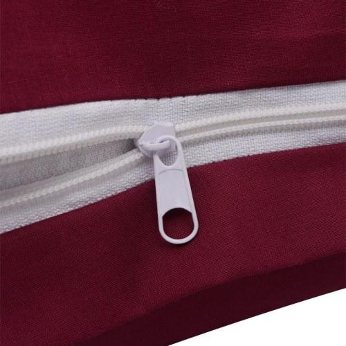 2 pz. Bedding Set Cotone Borgogna 135x200 / 80x80 cm
