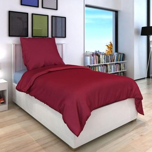 2 pz. Bedding Set Cotone Borgogna 155x220 / 80x80 cm