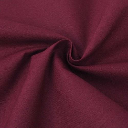 3 pz. Bedding Set Cotone Borgogna 200x200 / 80x80 cm