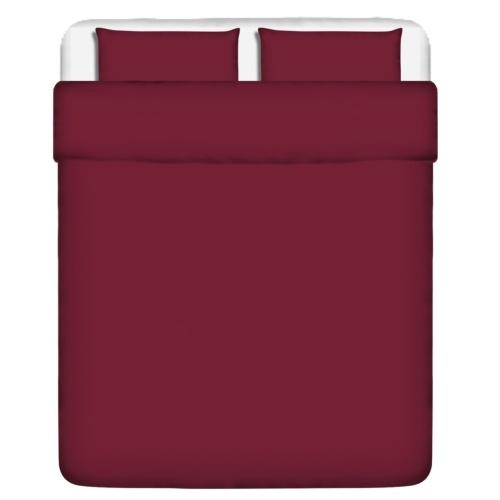 3 pz. Bedding Set Cotone Borgogna 240x220 / 80x80 cm
