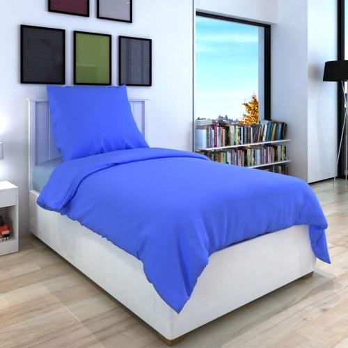 2 pz. Bedding Set Cotone 135x200 blu / 80x80 cm