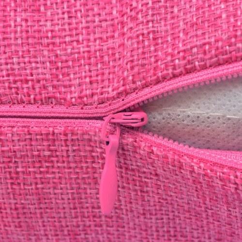 pillowcases 4 pcs. linen look rosa 80x80 cm