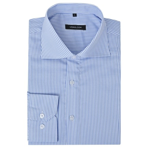 men's business shirt white and blue striped gr. m