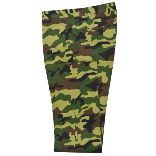 2 pcs. Men's suit with tie camouflage pattern size 52