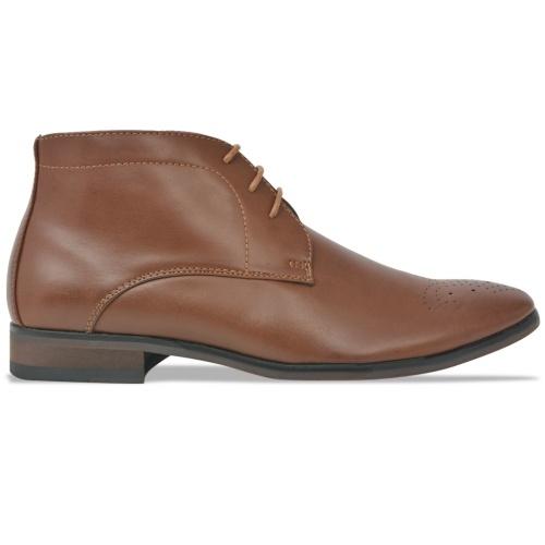 Мужские кружевные ботинки для лодыжки Коричневый размер 44 Кожа PU