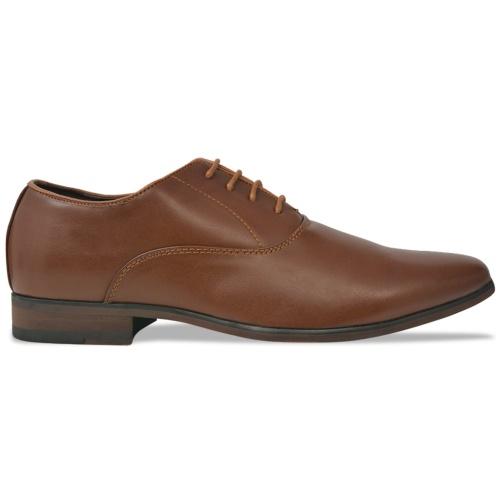 Деловая обувь Мужская кружевная обувь Коричневый размер 40 Кожа PU
