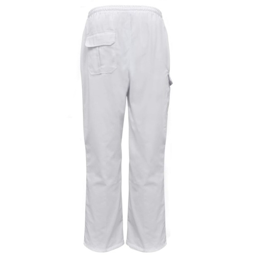 Chef trousers 2 pcs. Stretchy waistband with drawstring. Size L White
