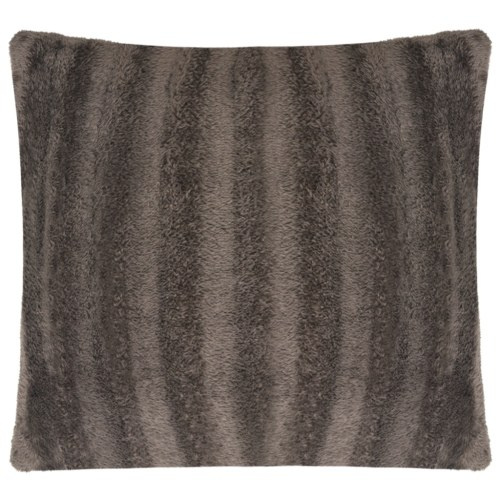 Pillowcases 2 pcs. Faux fur 50x50 cm Gray