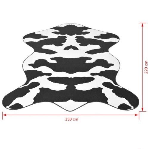 carpet cow print 150 x 220 cm black