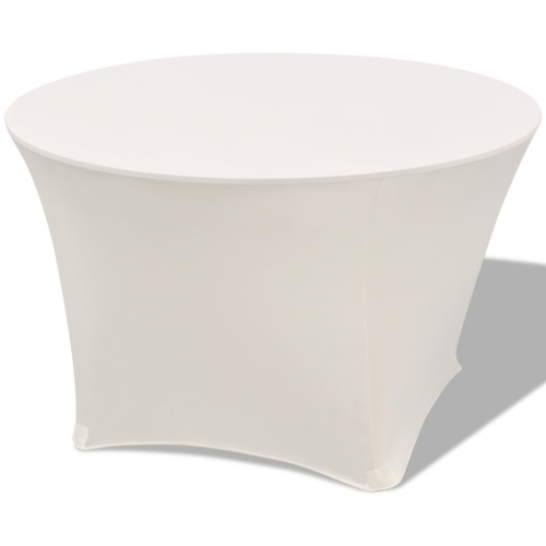 Stretch Table Hats 2 pcs. Round 180x74 cm creamy white