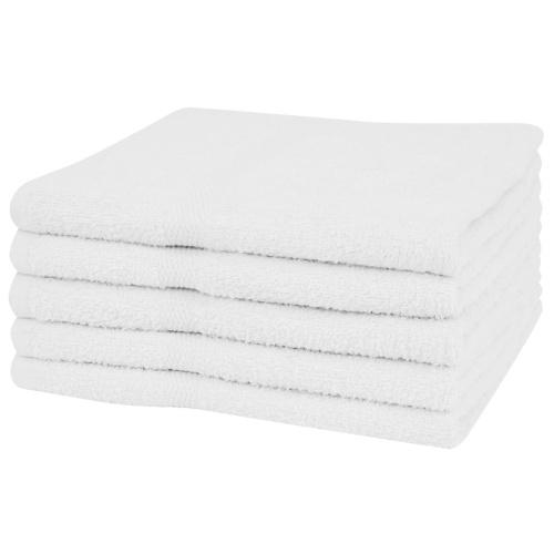Душевые полотенца 5 шт. 100% хлопок 360 г / м2 70 х 140 см белый