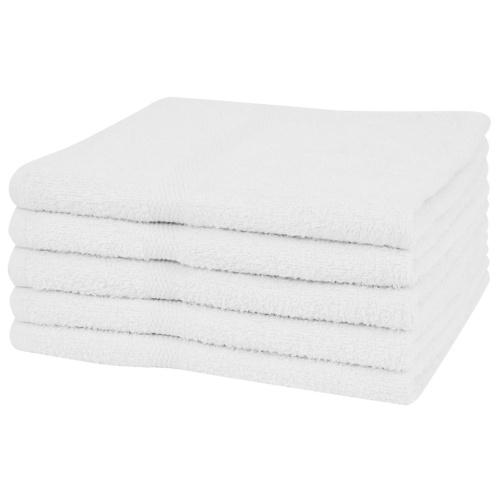 Банные полотенца 5 шт. 100% хлопок 360 г / м² 100 х 150 см белый