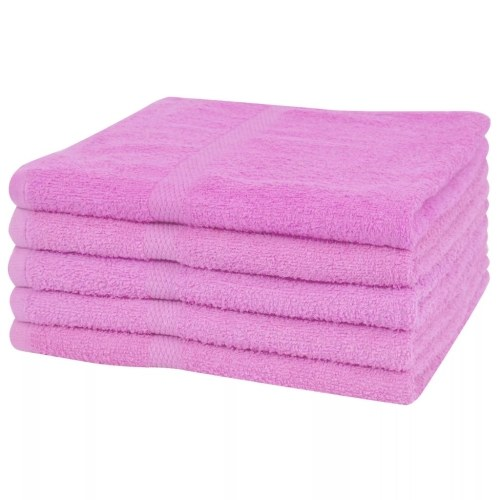 Банные полотенца 5 шт. 100% хлопок 360 г / м² 80 х 200 см розовый