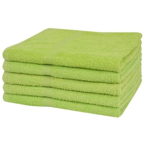 Душевые полотенца 5 шт. 100% хлопок 360 г / м2 70 х 140 см зеленый