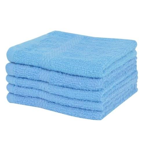Гостевые полотенца 10 шт. 100% хлопок 360 г / м² 30 х 30 см синий