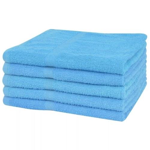 Душевые полотенца 5 шт. 100% хлопок 360 г / м2 70 х 140 см синий