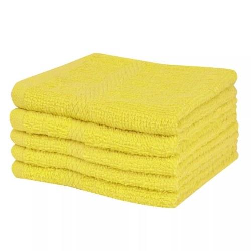 Гостевые полотенца 10 шт. 100% хлопок 360 г / м² 30 х 30 см желтый
