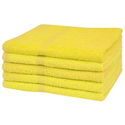 Душевые полотенца 5 шт. 100% хлопок 360 г / м2 70 х 140 см желтый