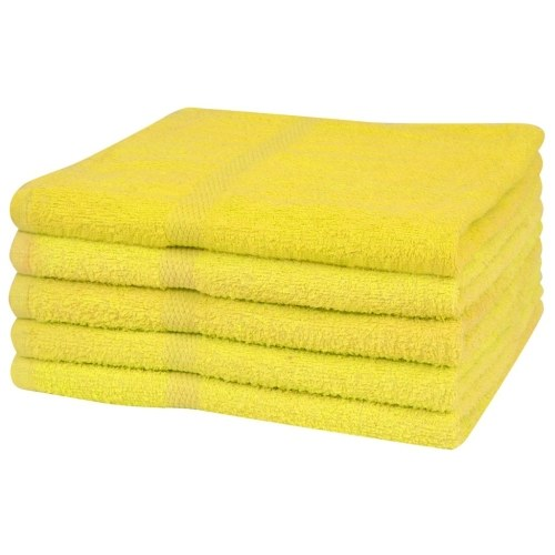 Сауна полотенца 5 шт. 100% хлопок 360 г / м² 80 х 200 см желтый