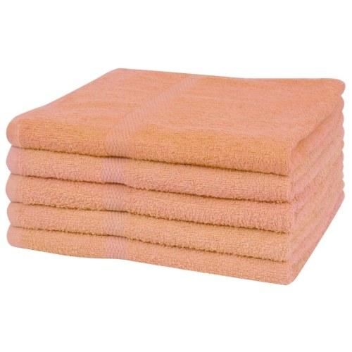 Душевые полотенца 5 шт. 100% хлопок 360 г / м² 70 х 140 см персик