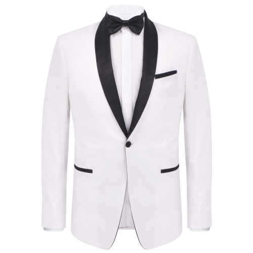 Abito da sera in due pezzi Cravatta nera Smoking Taglia da uomo 54 Bianco