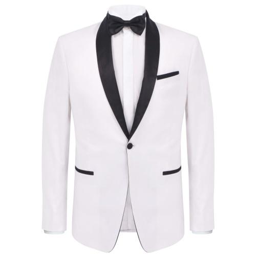 Two-piece evening suit Black Tie Smoking Men's size 54 White