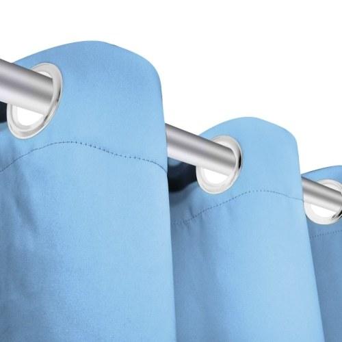 Занавески занавески 2 шт. С металлическими проушинами 135 х 245 см бирюзовый