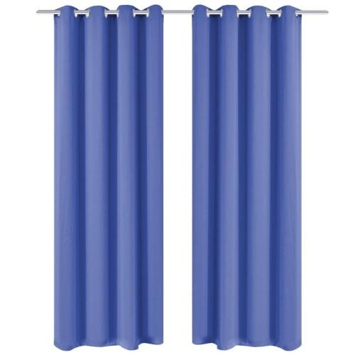 Занавес занавес с металлическими проушинами 270 x 245 см синий