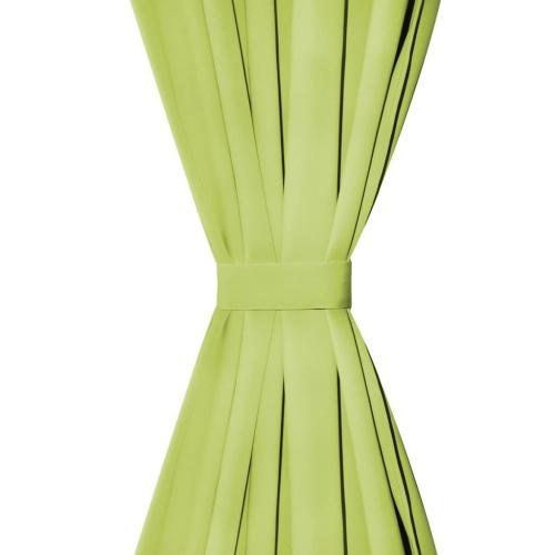 Занавески микро-сатин 2 шт. С петлями 140 × 225 см зеленые