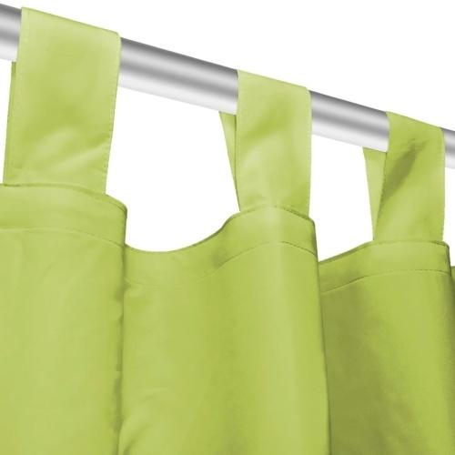 Занавески микро-сатин 2 шт. С петлями 140 × 245 см зелеными