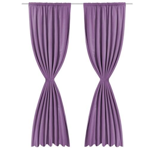 Шторы занавески 2 шт. Двухслойные 140 х 245 см Фиолетовый