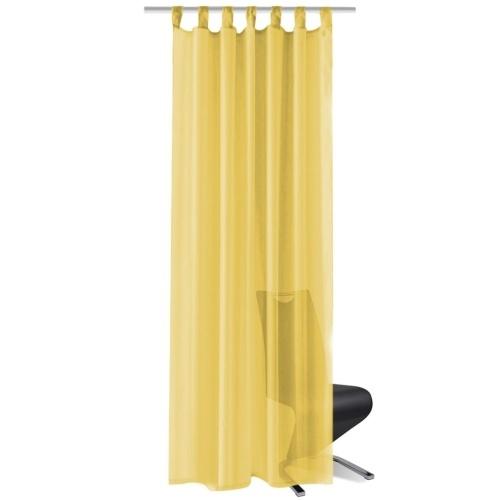 Шторы Voile 2 шт. 140 х 175 см желтые