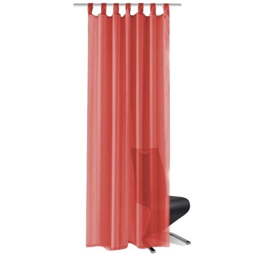 Шторы Voile 2 шт. 140 х 245 см красные