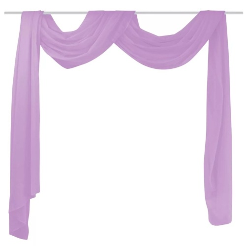Curtain made of voile 140 x 600 cm purple