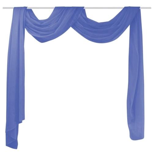 Крест-занавес из вуаль 140 x 600 см королевский синий