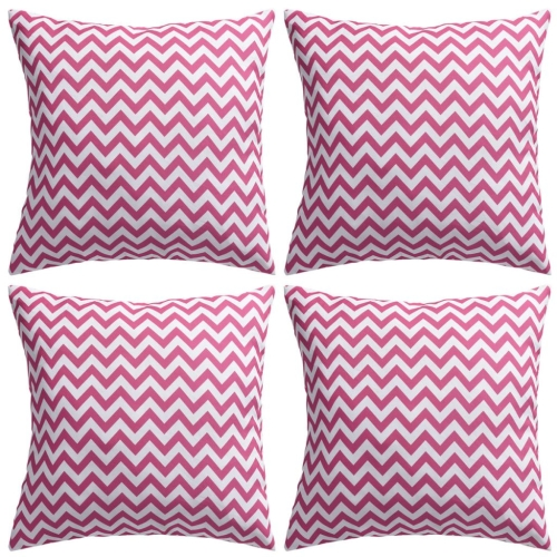 Outdoor cushions with zigzag Pattern 45x45 cm Rosa 4 uds.