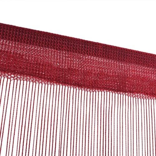 Струнные шторы 2 шт. 140 х 250 см. Бургундия красный