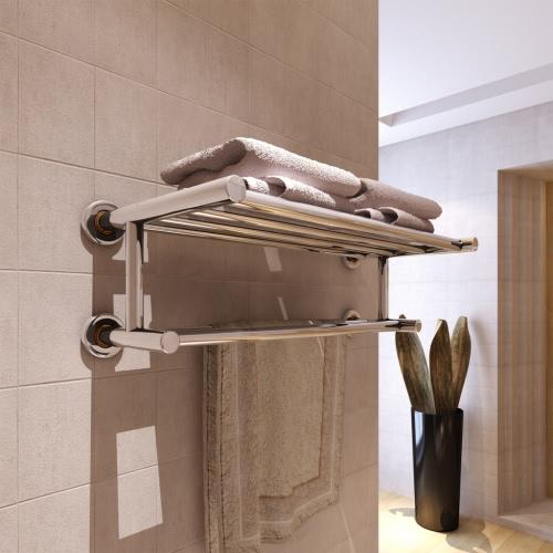 estantería de pared toallero de acero inoxidable 6 varillas