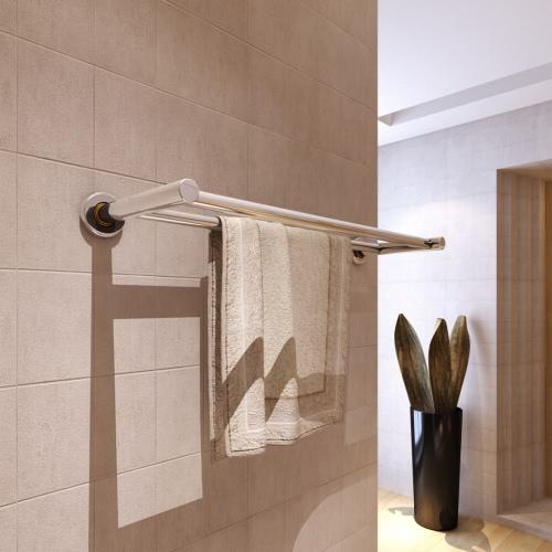Acero inoxidable baño toallero doble soporte 2 bares