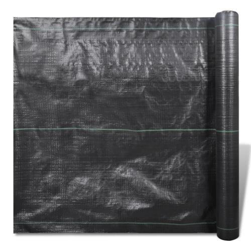 PP no tejida jardín inferior de tela de lana de malezas 50 x 1m 100 gsm